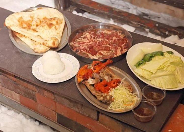 吃到飽方案的參考照片〈因為需要拍攝,所以餐廳特別幫我們準備了2人份的餐點〉