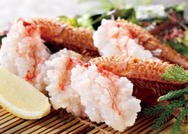毛蟹生魚片,1人2隻3200日圓~