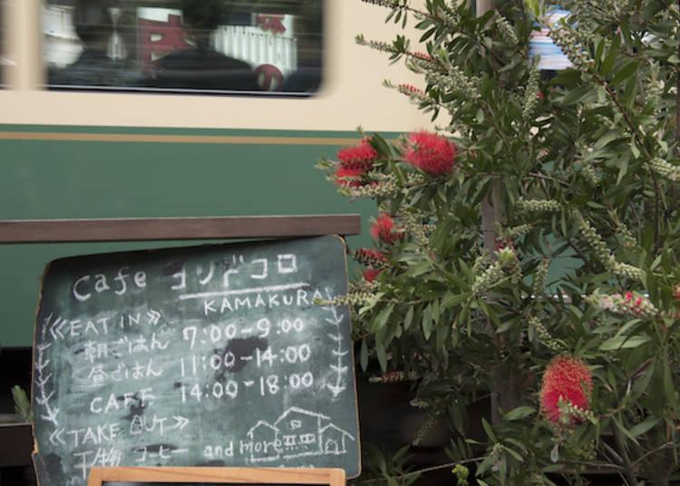 黑板上用蠟筆手寫的店家招牌