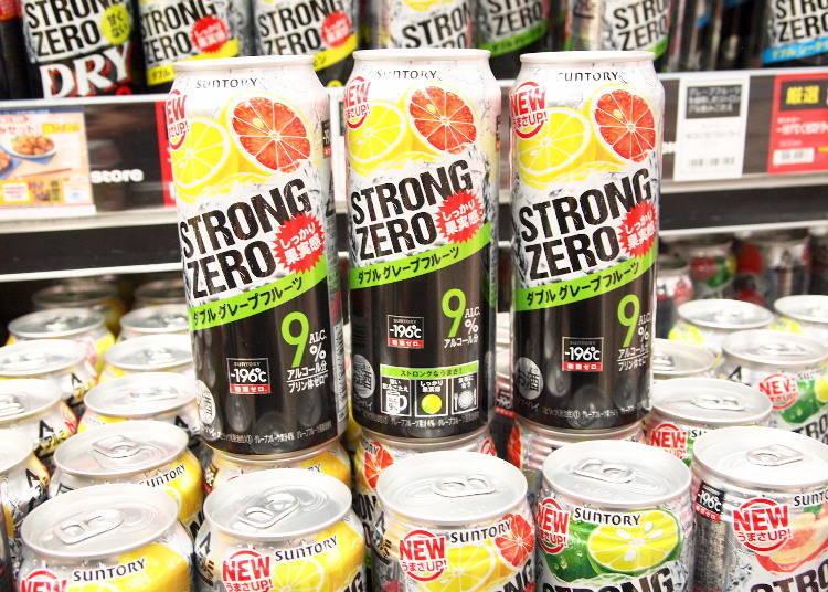 三得利-196℃ STRONG ZERO 雙倍葡萄柚口味 500ml 168日圓(未含稅價格)