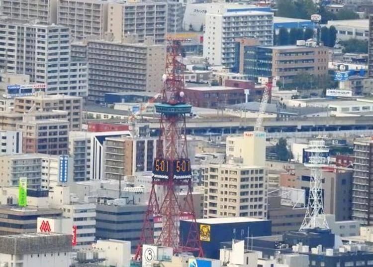 看到在高樓大廈中的「札幌電視塔」!