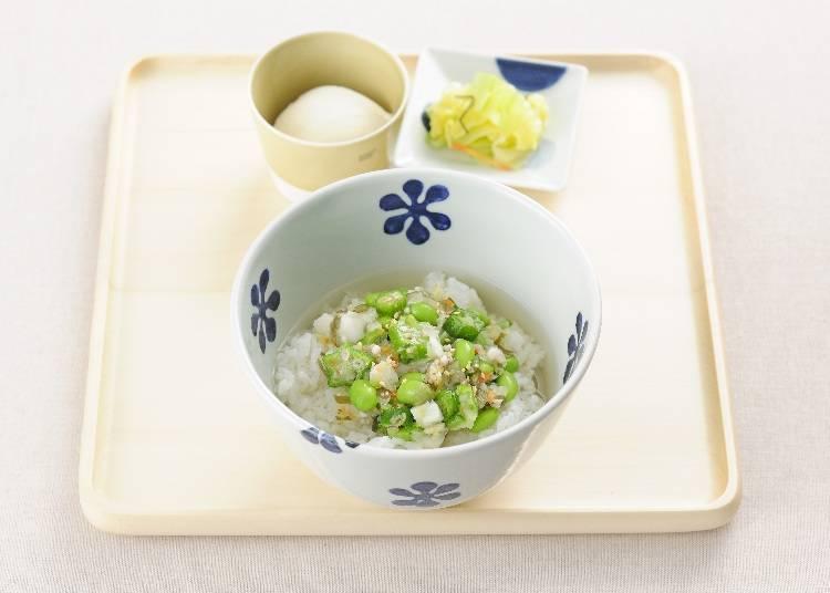 細切醃漬蔬菜高湯茶泡飯 500日圓