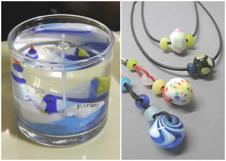 手工製作蜻蛉玉(玻璃球)或是果凍蠟燭