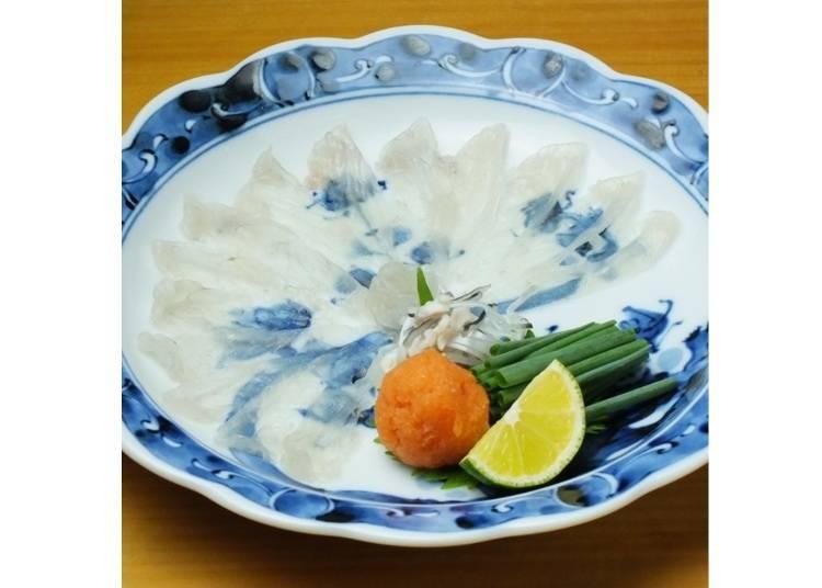 「虎斑河豚生魚片」2,700日圓(含税)