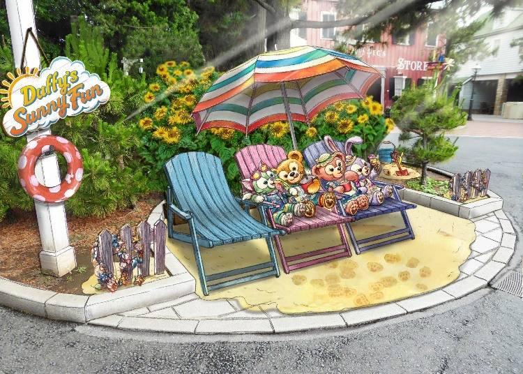 拍照地點「裴葛姑媽村莊商店」前 ※圖片皆僅供參考 ©Disney