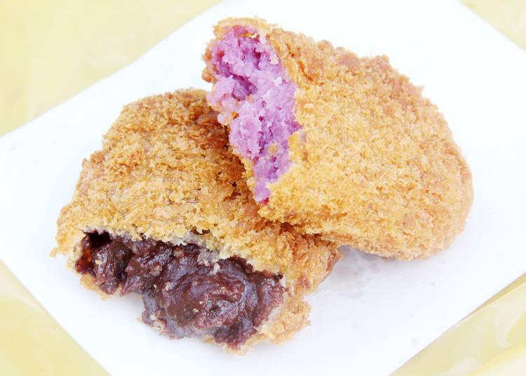 紫薯可樂餅和巧克力可樂餅
