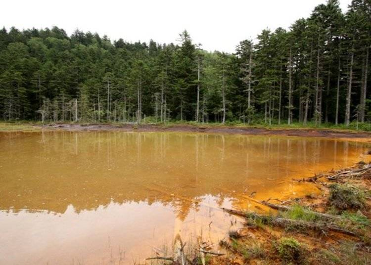 ▲橘紅色的水面和遠內多湖一樣帶著不可思議的神奇魅力