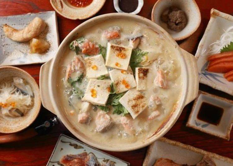 「金大亭流」為可以在金大亭享用到整條鮭魚的多種變化吃法。