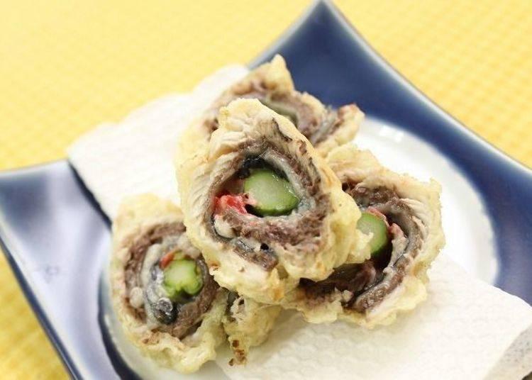 ▲料理道場現學現賣,使用沙丁魚做成的天婦羅(圖片提供:八食中心)