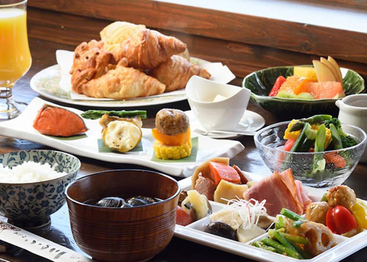 不論是西式派還是日式派都能得到大大滿足的自助式早餐
