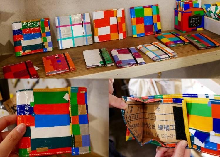 米袋製作超堅固七彩皮夾 / 2800 日圓