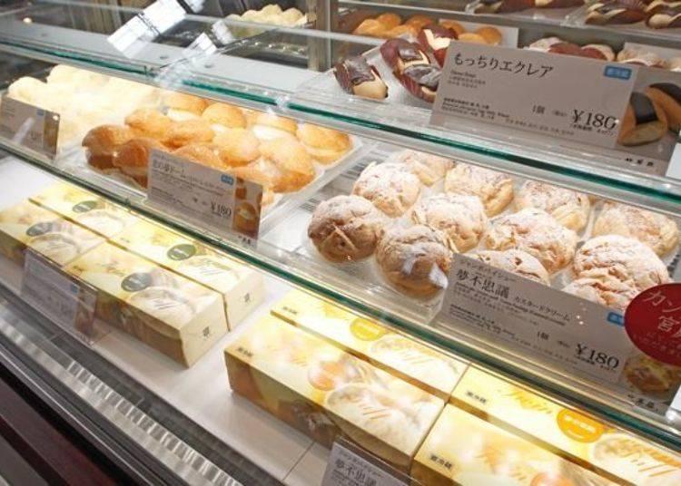 ▲一般口味的泡芙有七到八種,加上季節限定口味的話泡芙口味甚至可多達十種。
