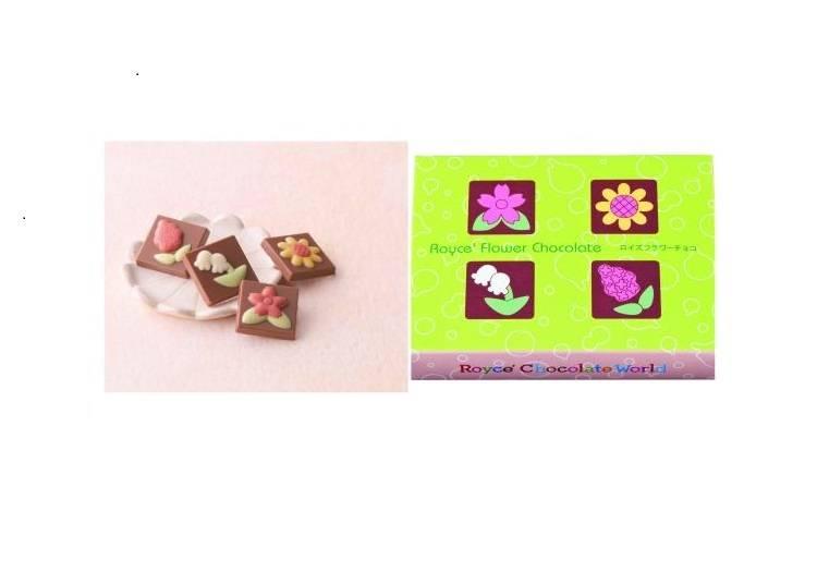 以北海道特色花卉為主題的「Royce' Flower Chocolate(ロイズフラワーチョコ)」(12片465日圓)