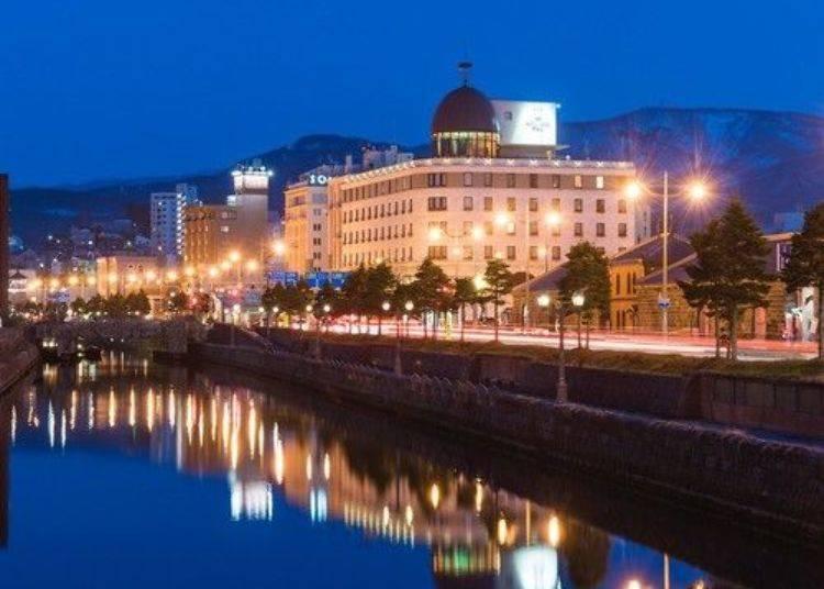 飯店的前面就是運河,圓頂屋頂是飯店的指標。
