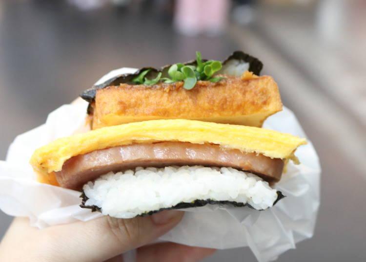 直火厚炸的燒烤味增飯糰 500日圓(含稅)