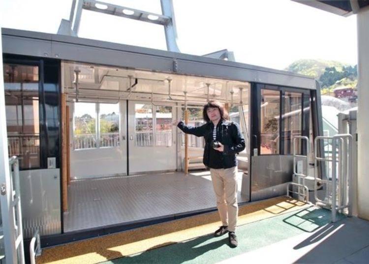 ▲纜車車內巨大的空間設計可搭乘125人。
