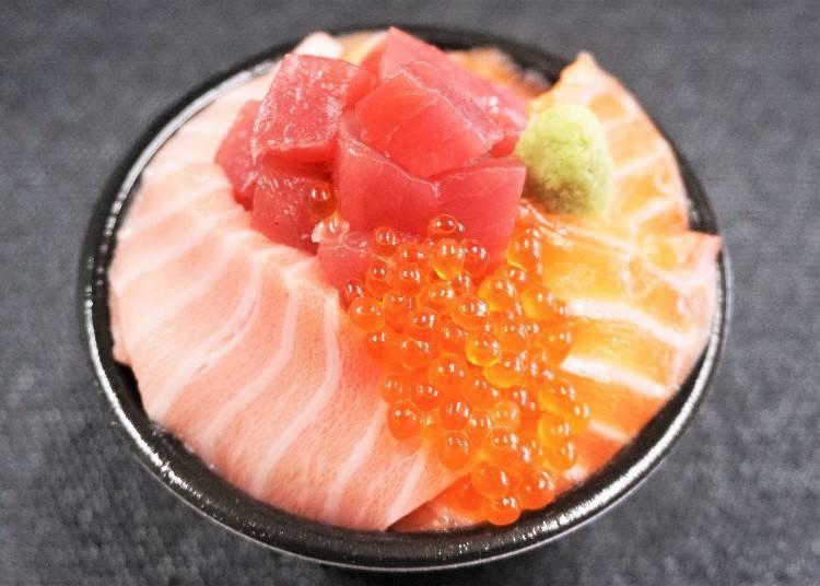 鮭魚鮪魚丼飯 1,600日圓(含稅)