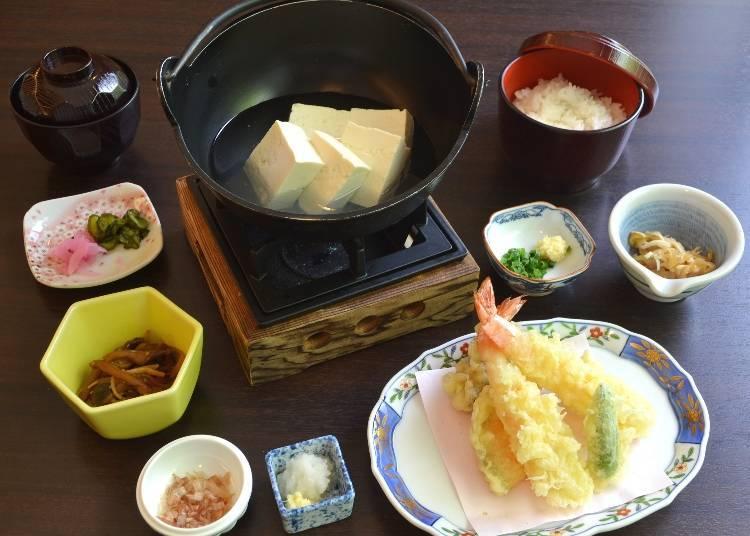 箱根姬之水透肌木棉湯豆腐(箱根姫の水たま肌木綿湯豆腐御膳) 午餐含稅52390日圓