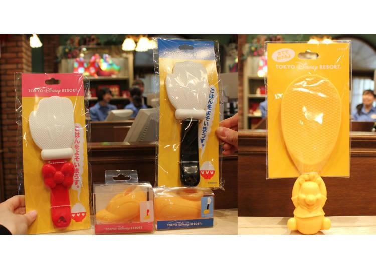 飯勺 飯勺架 各500日圓 小熊維尼飯杓800日圓