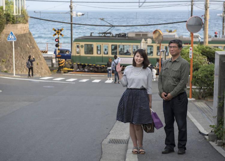 風靡世界的平交道,正式名稱為「鎌倉高校前1號平交道」