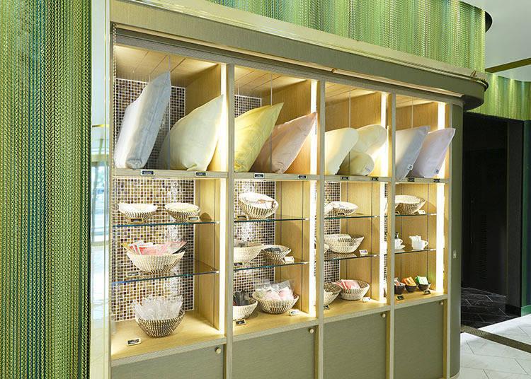 飯店備有盥洗用品,包含季節限定品在內多達15~20種