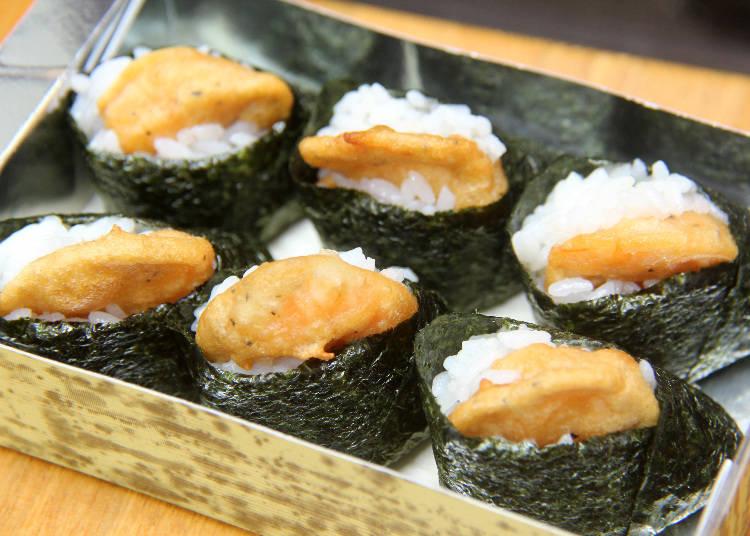 外帶天婦羅壽司 一份六入600日圓