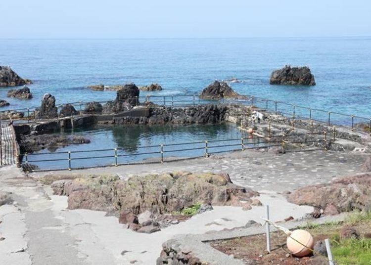 在海邊的魚池周邊可以自由參觀(免費)。