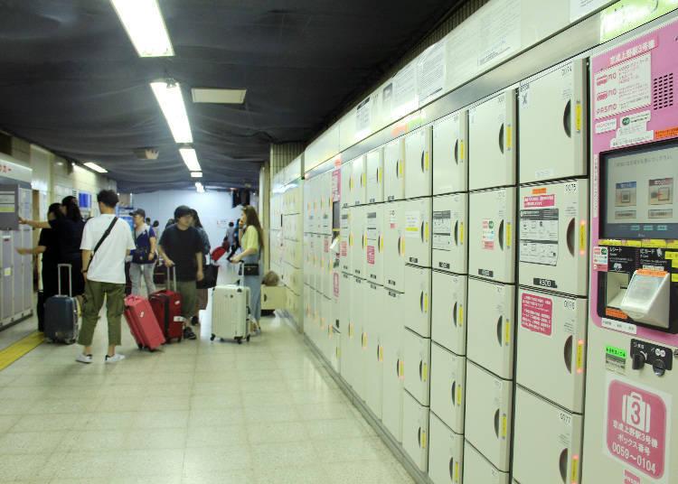 此處設有200個以上的置物櫃,其中大約有70個是大型置物櫃。