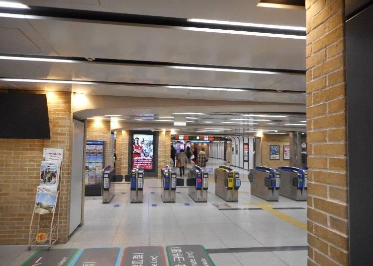 阪神「神戶三宮站」刷票口