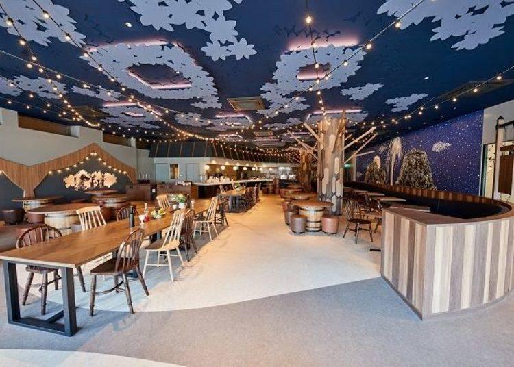 ▲KOKEMUS一樓的「歡樂谷食堂Muumilaakso ruokala(ムーミン谷の食堂ムーミラークソ ルオカラ)」© Moomin Characters™