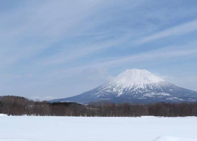 可從新雪谷的各個地方眺望羊蹄山。羊蹄山可是此地區象徵性的存在。