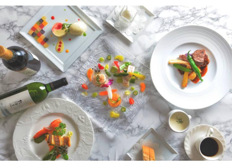 「藍寶石套餐」(空中纜車+登山纜車來回票+法式料理套餐,前一天預約10000日圓再加稅,只要10260日圓!參考照片)