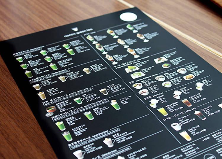 菜單上附有照片,方便理解餐點內容