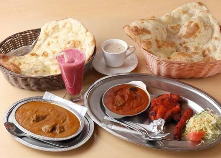 豐平峽溫泉的著名美食印度咖哩。