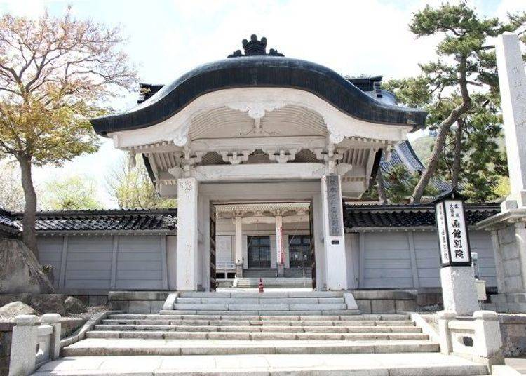 ▲被國家指定為重要文化財的「真宗大谷派 函館別院」。也稱作「東本願寺函館別院」。