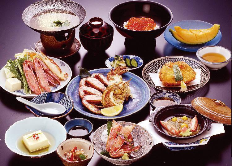 「ノサップ」套餐中各式各樣的螃蟹料理。