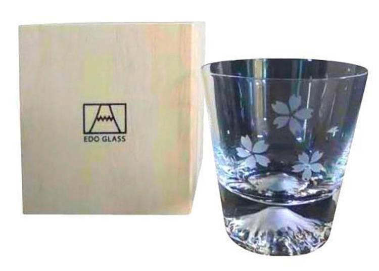 「田島硝子 富士山玻璃杯 櫻」