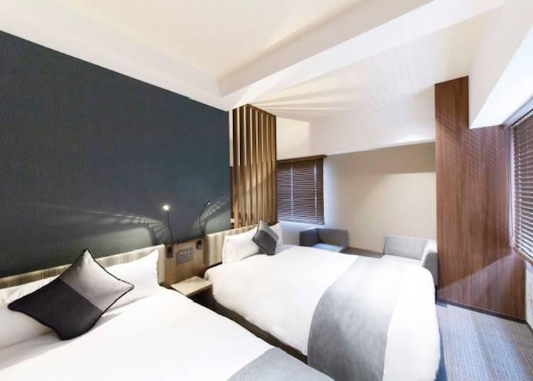 豪華雙人房的設計低調穩重,提供舒服自在的休息時光