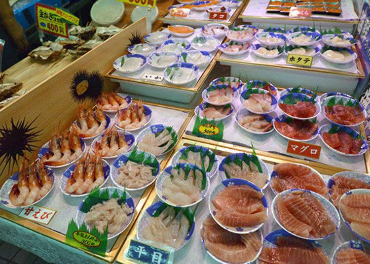 ▲食材依季節做調整,採訪這天(10月)共有10種海產
