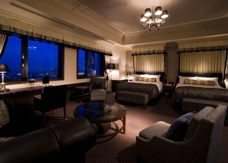 「豪華雙床房」以雅緻的裝潢呈現出高雅時尚的氛圍
