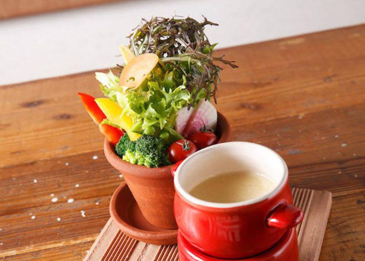 「有機蔬菜的義式冬季蔬菜料理」(950日圓)