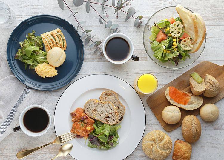 自助式早餐提供日式和西式料理