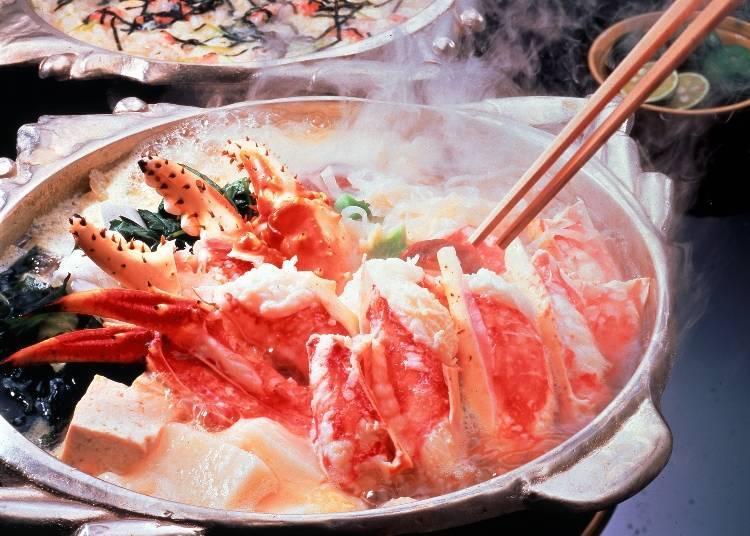 這是北海道帝王蟹的「螃蟹壽喜燒」。