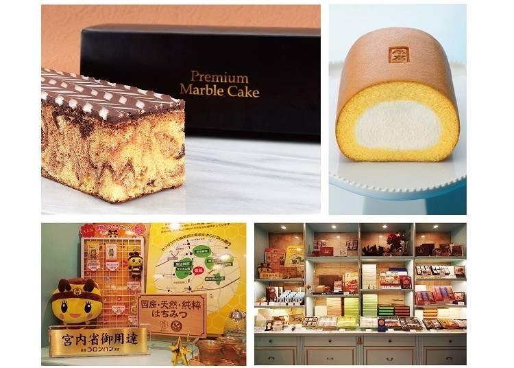 原宿蜂蜜楓糖蛋糕:1,404日圓、原宿蛋糕卷:1,080日圓