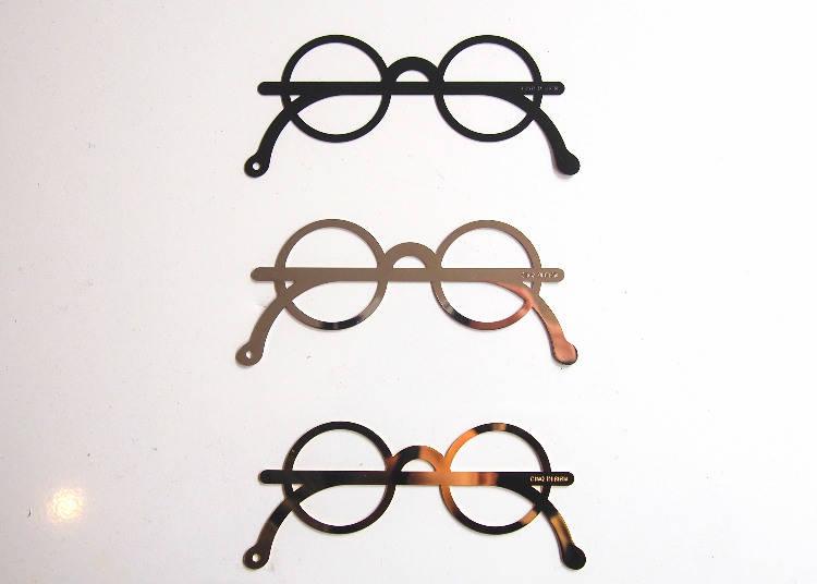 CINQ原創質感眼鏡造型書籤,黑色702、金銀兩色¬¬756日圓
