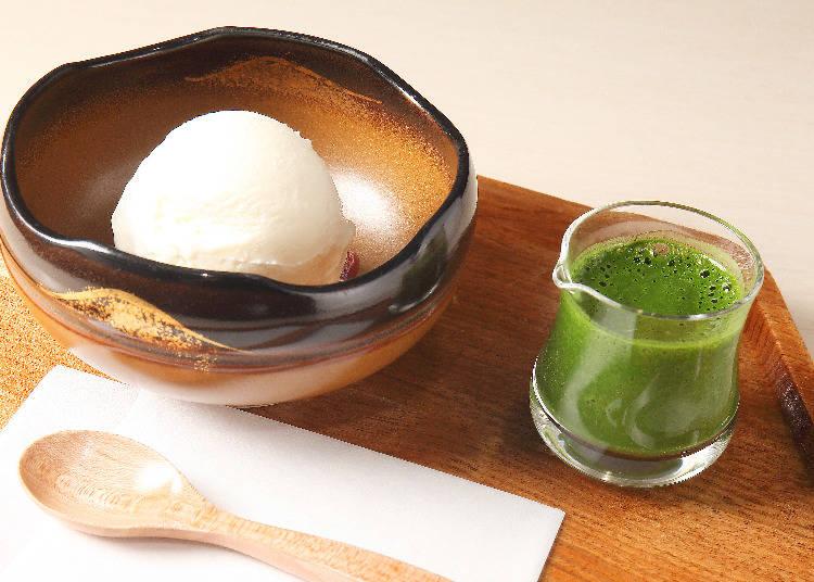 受到外國旅客喜愛的「抹茶阿法奇朵(抹茶アフォガード)」(980日圓)