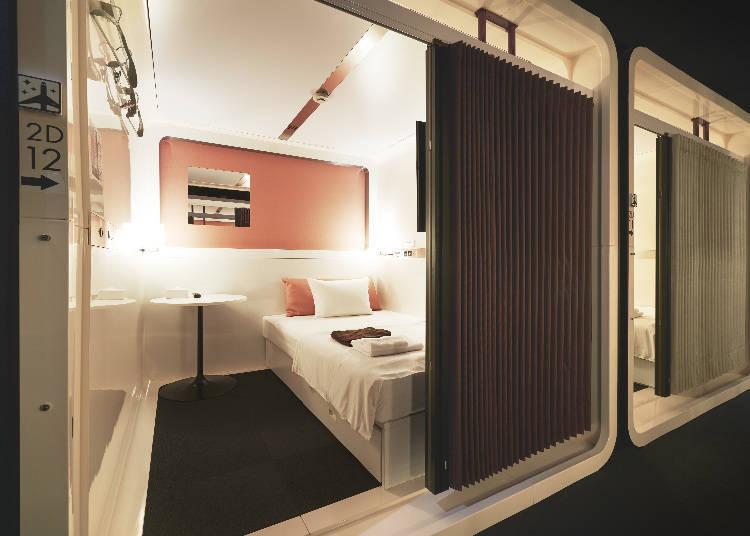 「FIRST CABIN秋葉原」豪華的空間打造,讓人度過舒適的放鬆時光。