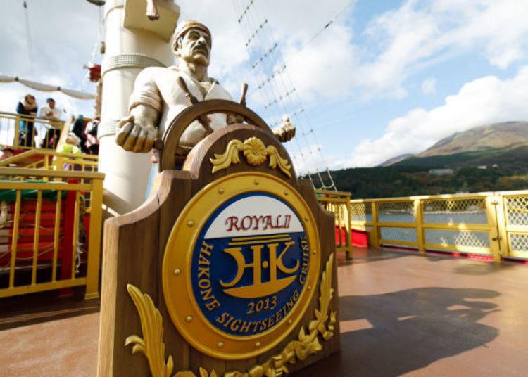 ▲特等艙專用甲板上可與海賊像合照
