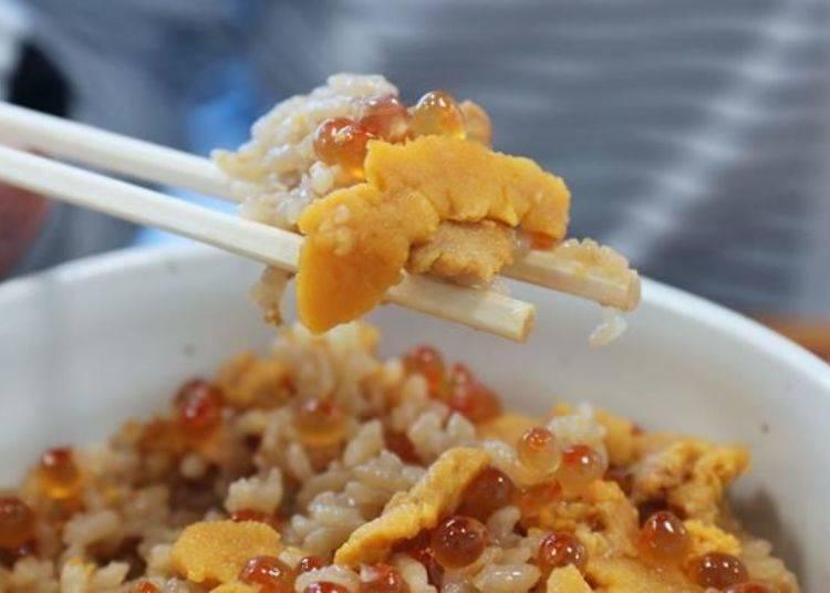 入口即化的海膽搭配鮭魚卵的鮮味真是極品!然後雜炊飯更是超級優秀!