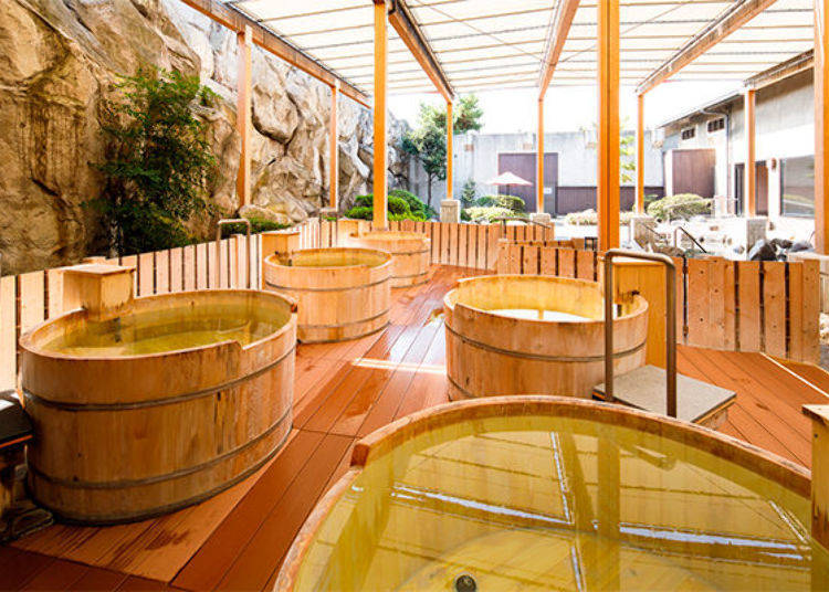 ▲這是桶風呂(限女湯)。因為這是日式浴缸,所以在外國觀光客中非常受歡迎。